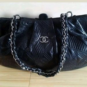 Chanel Camelia Shoulder Bag Lambskin